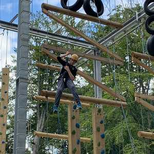 Nerve of steel on high ropes